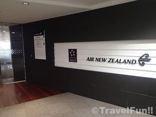 ニュージーランド航空ラウンジエントランス